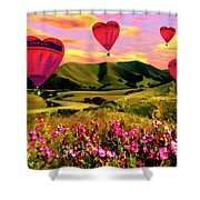 Come Fly With Me Shower Curtain by Kurt Van Wagner