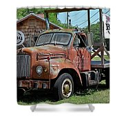 Come Hungry But Bring Your Own Chair Shower Curtain by DigiArt Diaries by Vicky B Fuller
