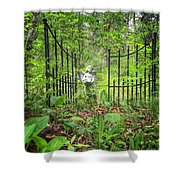 Come Into The Woods With Me Shower Curtain