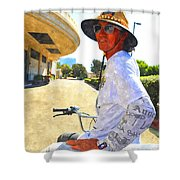 Come Ride With Me Shower Curtain