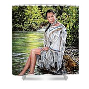 Come Sit With Me Shower Curtain
