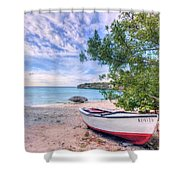 Come To Curacao Shower Curtain