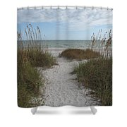 Come To The Beach Shower Curtain