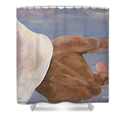 Come Unto Me Shower Curtain