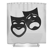 Comedy N Tragedy B W Shower Curtain