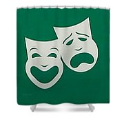 Comedy N Tragedy Original Shower Curtain