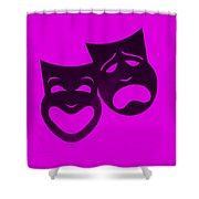 Comedy N Tragedy Purple Shower Curtain