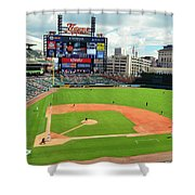 Comerica Park, Home Of The Detroit Tigers Shower Curtain
