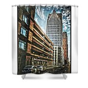 Comerica Tower Shower Curtain