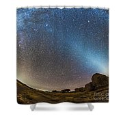 Comet Lovejoy And Zodiacal Light Shower Curtain