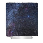 Comet Lovejoy In The Winter Sky Shower Curtain