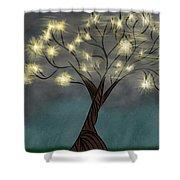 Comet Tree Shower Curtain