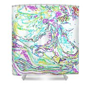 Cometogether Shower Curtain