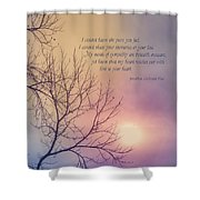 Comfort In Sorrow Shower Curtain