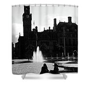 Comforted By The City Shower Curtain