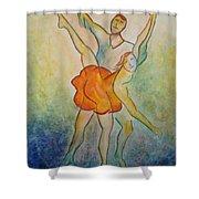 Comic Ballet Shower Curtain