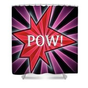 Comic Book Pow Shower Curtain