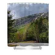 Comin Around The Bend In Campton New Hampshire Shower Curtain
