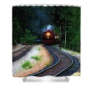 Comin Round The Bend Shower Curtain
