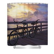 Coming And Going By Marilyn Nolan- Johnson Shower Curtain