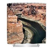 Coming Around Horseshoe Bend Page Arizona Colorado River  Shower Curtain