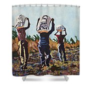 Coming From The Fields Shower Curtain