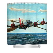 Coming Home - Boeing B-17 Flying Fortress V2 Shower Curtain