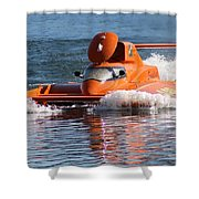 Time Trial Is Complete Shower Curtain