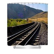 Coming Round The Bend Shower Curtain