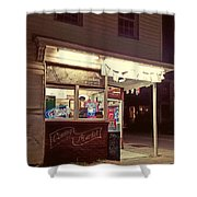 Coming Street Night Life Shower Curtain