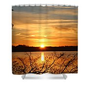 Coming Up Shower Curtain