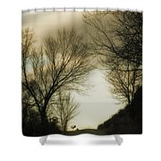 Coming Up The Drive 2 Shower Curtain