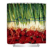 Comlimentary Vegetables Shower Curtain