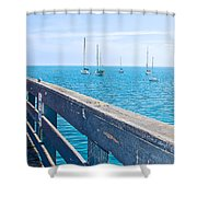 Commercial Pier On Monterey Bay-california  Shower Curtain