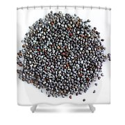 Commercial Poppy Seeds Shower Curtain