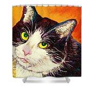 Commission Your Pets Portrait By Artist Carole Spandau Bfa Ecole Des Beaux Arts  Shower Curtain