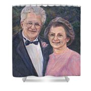 Commissioned Portrait Painting Shower Curtain