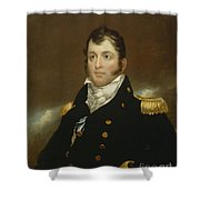 Commodore Oliver Hazard Perry Shower Curtain by John Wesley Jarvis