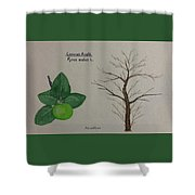 Common Apple Tree Id Shower Curtain