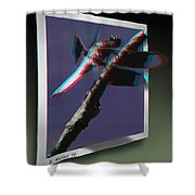 Common Whitetail - Use Red-cyan 3d Glasses Shower Curtain