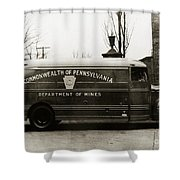 Commonwealth Of Pennsylvania  Coal Mine Rescue Truck 1947 Shower Curtain