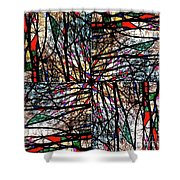 Communal Branches Shower Curtain