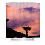 Communication Sunset Shower Curtain