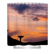 Communications To The Stars Shower Curtain