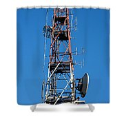 Communications Tower Shower Curtain