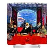 Communist Last Supper Shower Curtain