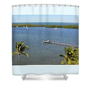 Community Harbor Shower Curtain
