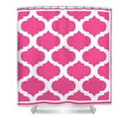 Compact Marrakesh With Border In French Pink Shower Curtain