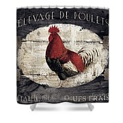 Compagne IIi Rooster Farm Shower Curtain