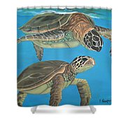 Companions Of The Sea Shower Curtain